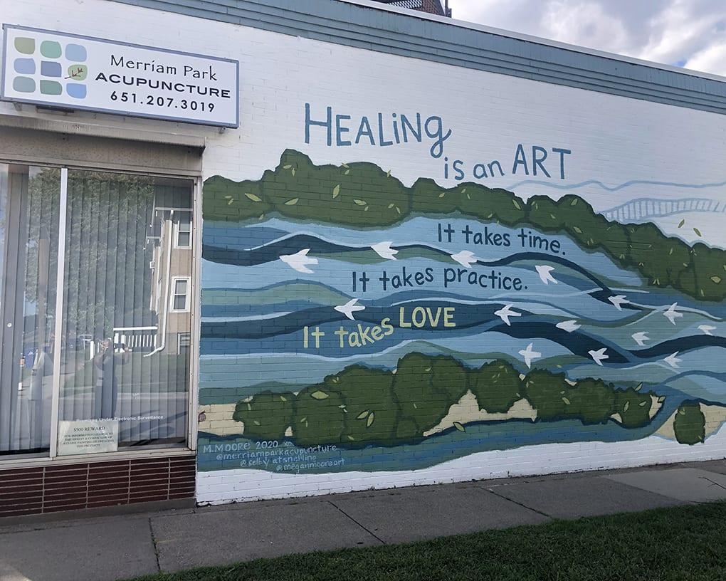 Merriam Park Acupuncture Mural St Paul MN